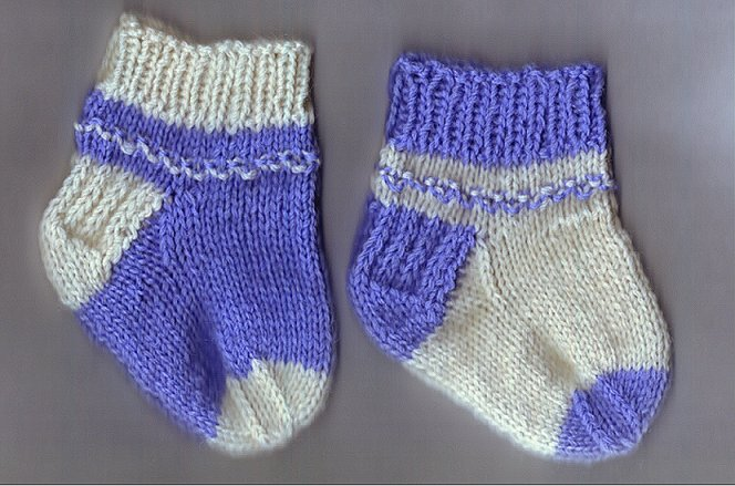 Newborn Sock Pattern Knitting Bee