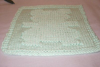 Knitted Teddy Bear Cloth