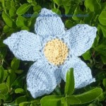 Knitted Blue Flowers