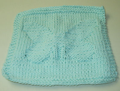 Free Knitting Pattern Butterfly Dishcloth : BUTTERFLY FREE KNITTED PATTERN   Patterns Gallery