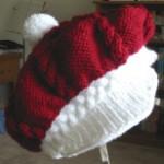 Cabled Santa Beret