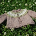 Concentric Stripes Baby Cardigan