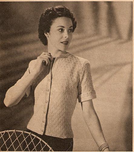 Cuffed Cotton Cardigan
