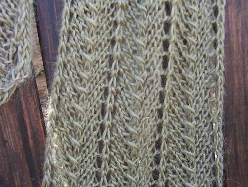 Cream Of Spinach Scarf Knitting Bee