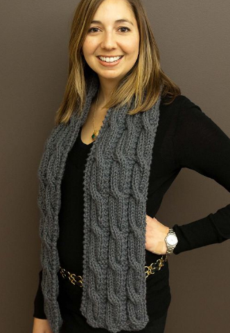 Easy Knit Scarf Knitting Pattern | Red Heart