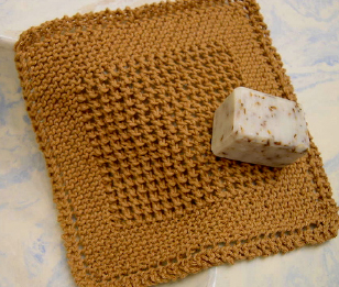 Find the free PDF dishcloth pattern here: link