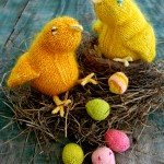 Fuzzy Easter Chicks and Mini Easter Eggs