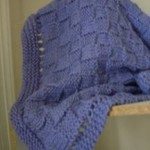 Easy Basket-Weave Baby Blanket