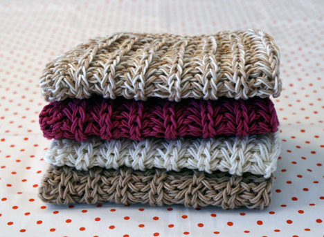 Knitted Dishcloth Patterns - Knitting Downloads