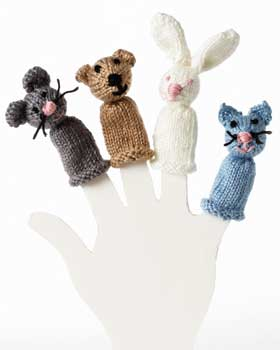 Finger puppets patterns picture / Finger puppets instructions picture