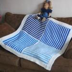 Easy Garter Stitch 4 Patch Baby Blanket