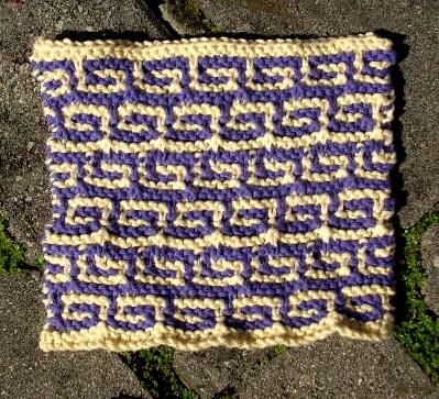 Greek Key Cloth ⋆ Knitting Bee
