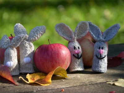 Hare Finger Puppets