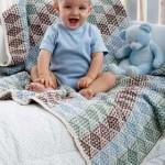 Knit Diamond Blanket