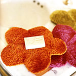 Knitted Flower Washcloth