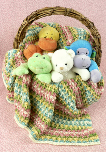 Slip Stitch Knitting Baby Blanket Pattern : 125 free knitting patterns tagged baby Knitting Bee Page 14 (125 free kni...