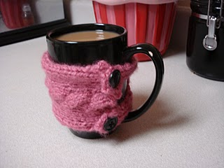 FREE COFFEE COZY KNITTED PATTERN