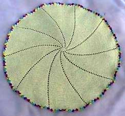 Knitting Pattern For Round Baby Blanket : Free Knitting Pattern Round Patterns Gallery