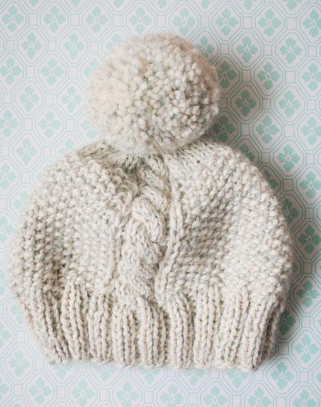 Knitting Pattern Pom Pom Hat Free : FREE PATTERNS KNITTING HATS FREE PATTERNS