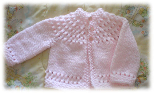 Pretty Baby Sweater Knitting Bee