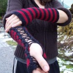 Punk Rock Corset Gloves