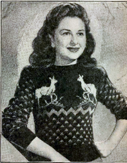 Vintage Knitting Patterns : Reindeer Sports Jumper ? Knitting Bee