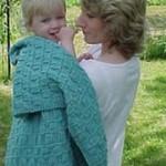Rib Check Baby Blanket