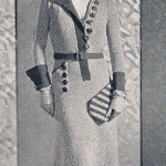 The Stratford One Piece Dress, Hat and Purse 1933