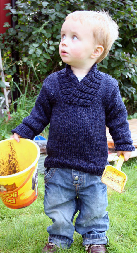 Childrens Sweater To Knit Cardigan With Buttons