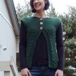 Cables and Garter Cardi