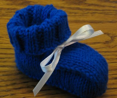 Free Knitting Patterns: Easy Ribbed Baby Booties