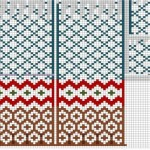 nordic mittens knit pattern