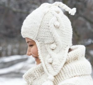 cable hat with earflaps knitting pattern