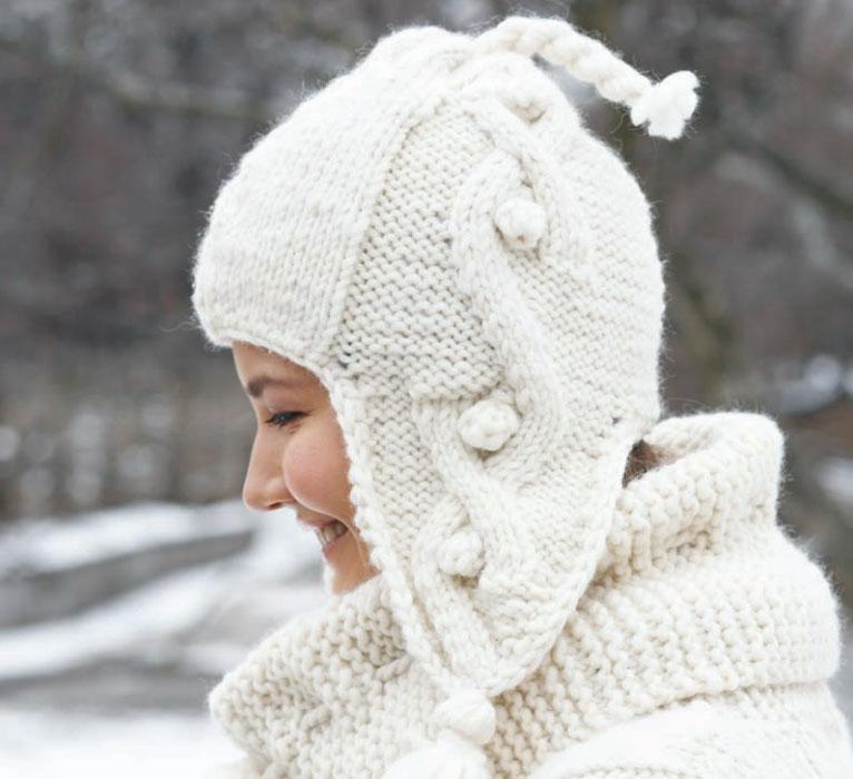 076a42e0c21dd Big Aran Sweater and Earflap Hat Free Knitting Pattern