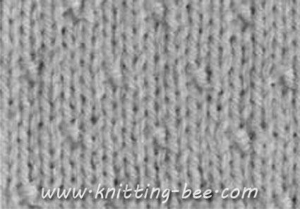 Dot Stitch Knitting Pattern ? Knitting Bee