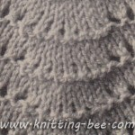 Fan Stitch Knitting Pattern for free