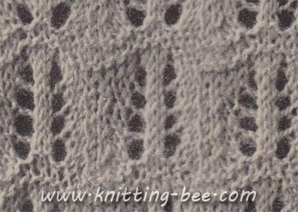 Feather Stitch Knitting Pattern Knitting Bee