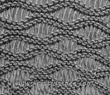 Knitting Stitches Pattern : Seafoam Stitch Knitting Pattern ? Knitting Bee