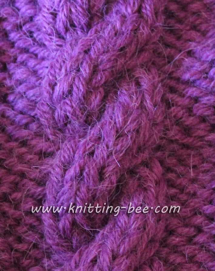 Simple Rope Cable Knitting Pattern ⋆ Knitting Bee
