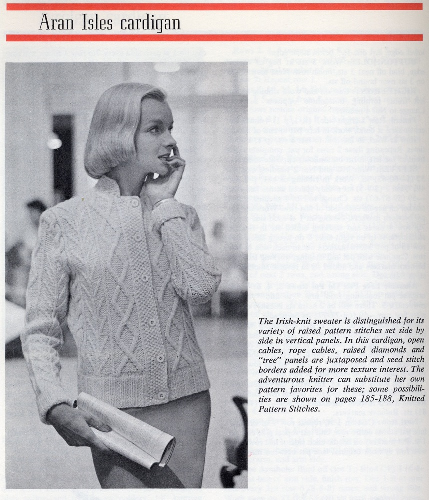 Aran Isle Cardigan Vintage Knit Pattern 4 Car Interior ...