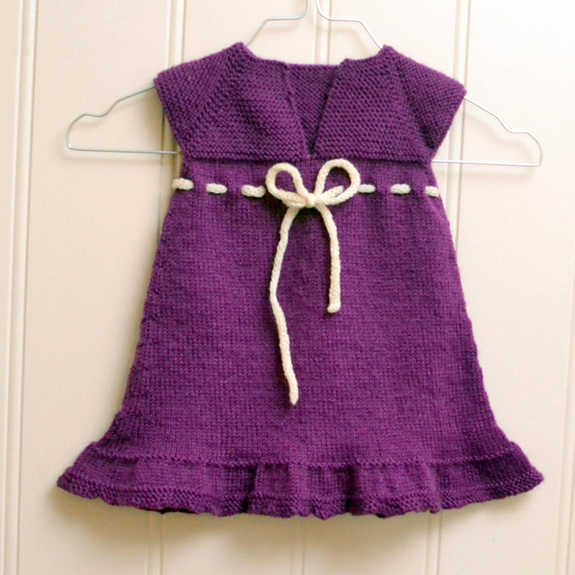 Agnes Baby Dress Knitted Pattern Knitting Bee