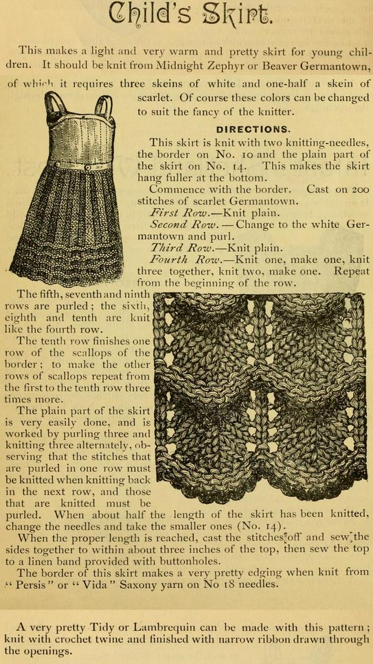 Child S Skirt Vintage Knit 1885