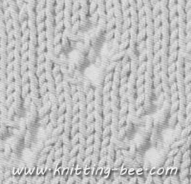 Diamond Eyelet Stitch Pattern ⋆ Knitting Bee Interesting Diamond Knitting Pattern
