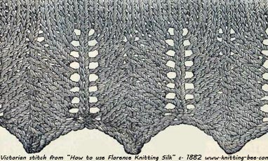 fancy knit stitch victorian