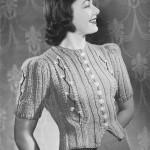 free vintage cardgan knit pattern