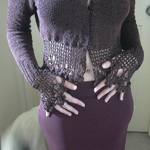 gothic knitting sweater