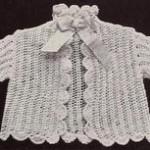 vintage baby cardi pattern