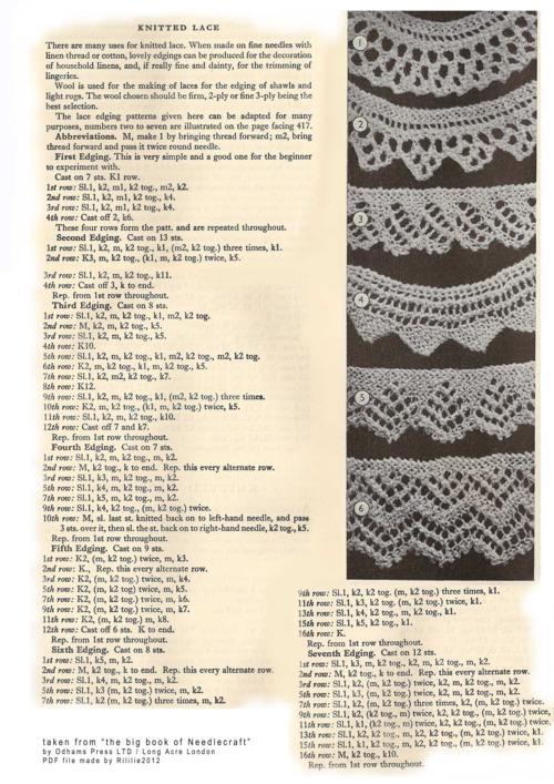 vintage lace edging