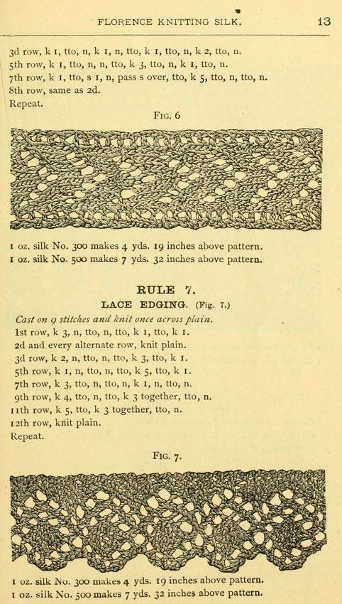 Vintage Lace Edging Patterns Knitting Bee