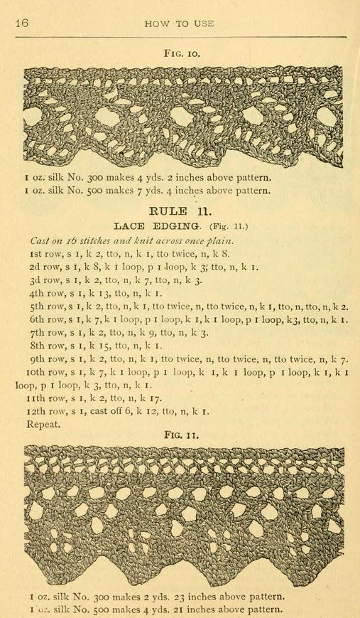 Vintage Lace Edgings ⋆ Knitting Bee 2 Free Knitting Patterns
